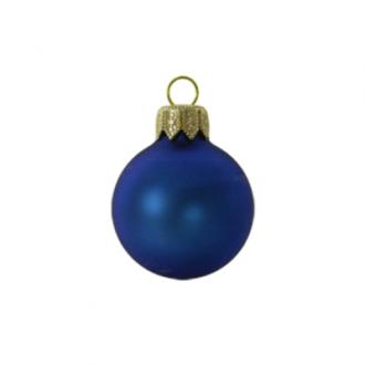 Glazen kerstballen - 60mm, kleuren met mat effect