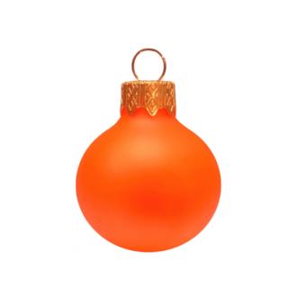 Glazen kerstballen - 60mm, kleuren met fluorescerend effect