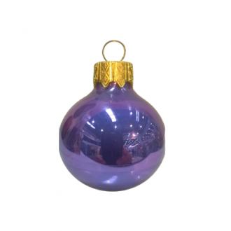 Glazen kerstballen - 60mm, kleuren met opaal (porselein) effect