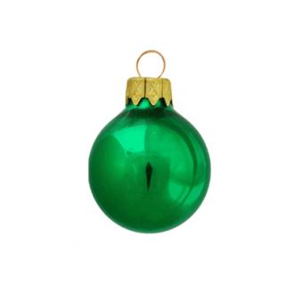Glazen kerstballen - 60mm, kleuren met metallic effect