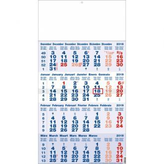 4 maandkalender blauw