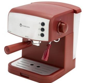 Espressor manual Studio Casa Retro 90, 850 W, 15 bari, 1.5L, Rosu