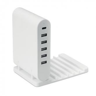 Opvouwbare USB-laadstation met 5 poorten