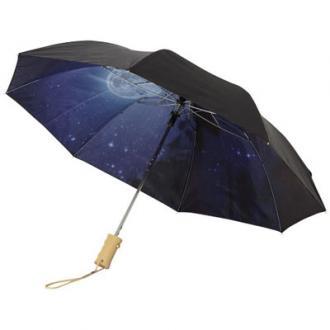 21 inch 2 sectie opvouwbare automatische paraplu met heldere nacht