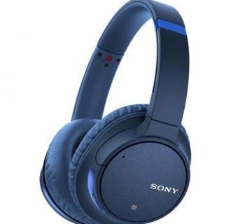 Casti audio Sony WH-CH700NL, Noise Canceling, Google Assistant, Wireless, Bluetooth, NFC, Albastru