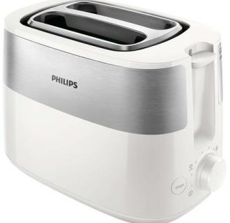 Prajitor de paine Philips HD2516/00, 830 W, 2 fante, functie dezghetare, control variabil, Alb/Inox