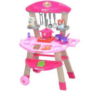 Bucatarie copii pe roti M-Toys cu accesorii, lumini si sunet