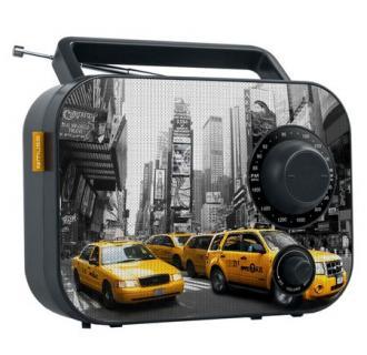 Radio portabil Muse M-062 NY, FM/MW, Boxa frontala, AUX-in, Negru