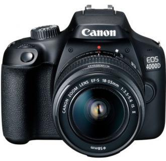 Aparat foto DSLR Canon EOS 4000D,18.0 MP, Negru + Obiectiv EF-S 18-55mm F/3.5-5.6 III Negru