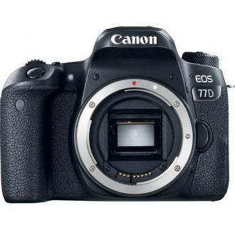 Aparat foto DSLR Canon EOS 77D, 24.2MP, Body, Wi-Fi, Negru