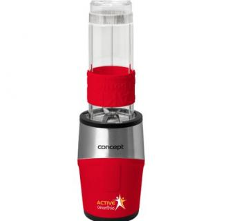 Mini Blender Concept SM3386, 500 W, 2 x 570 ml + 1 x 400 ml, recipiente tritan fara BPA, Rosu