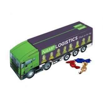 Dulciuri ambalate intr-un camion