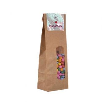 Punga de hartie cu diverse sortimente de bomboane