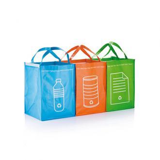 Set 3 sacose pentru deseuri reciclabile