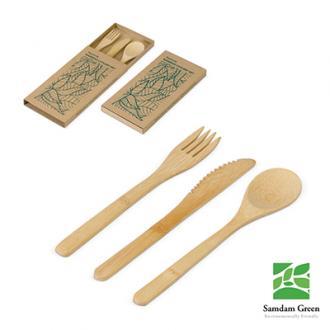 Set de tacamuri din bambus