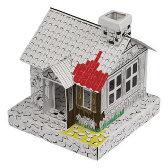 Casa de colorat din carton