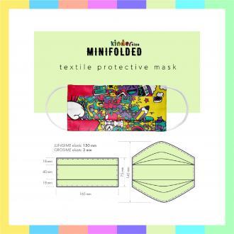 Masti textile reutilizabile 2 straturi micropolyester COPII