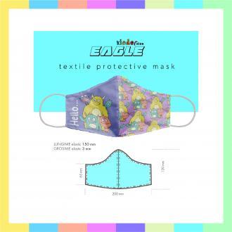 Masti textile reutilizabile 2 straturi micro-polyester si strat material filtrant testat cu proprietati filtrante >99% COPII
