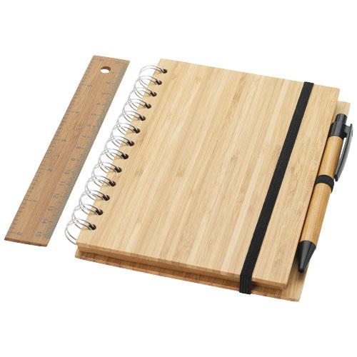 Agenda din bambus cu pix si rigla Franklin