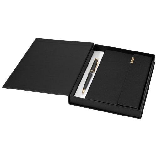 Notitieboek geschenkset met draaimechanisme balpen