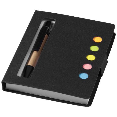Carnet de buzunar cu notite adezive si pix