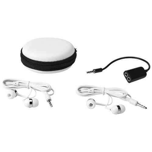 Sound off oordopjes en muziekverdeler met doosje