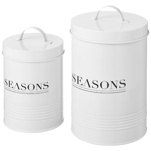 Porto 2 piece storage jar set