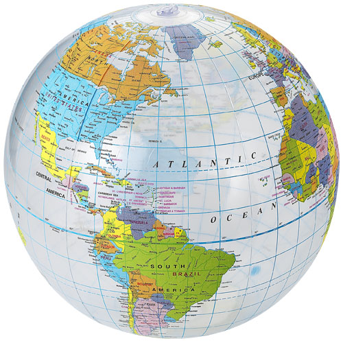 Strandbal globe opblaasbaar