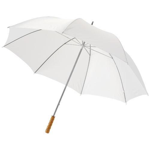 Umbrela de ploaie personalizata Golf cu maner din lemn