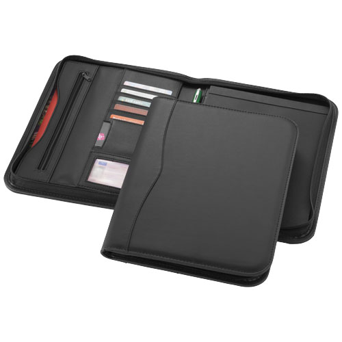 Ebony A4 zipper portfolio