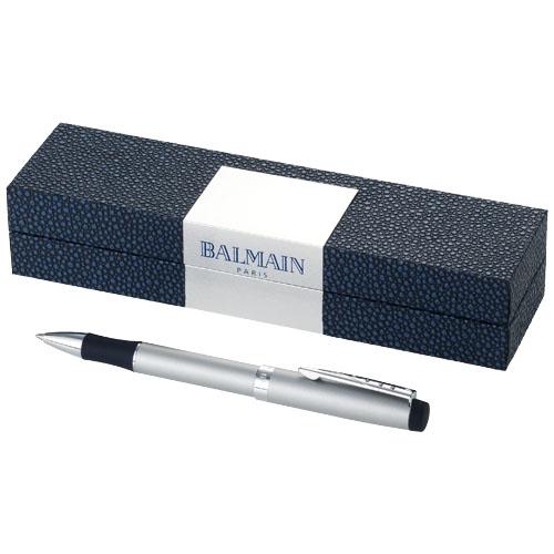 Metalen balpen met soft touch grip in Balmain geschenkdoos