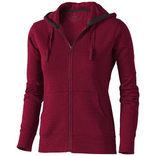 Arora full zip hooded sweater dames