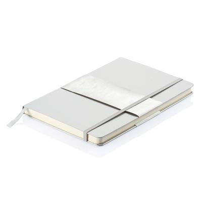 A5 hardcover notitieboek zilver