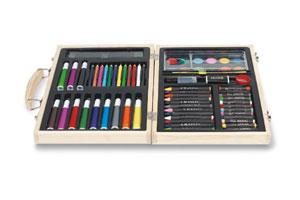 Set de colorat GENIO in cutie de lemn