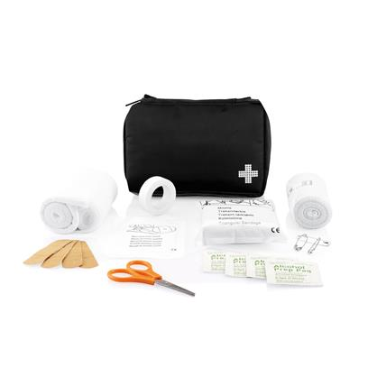 Mail size first aid kit black