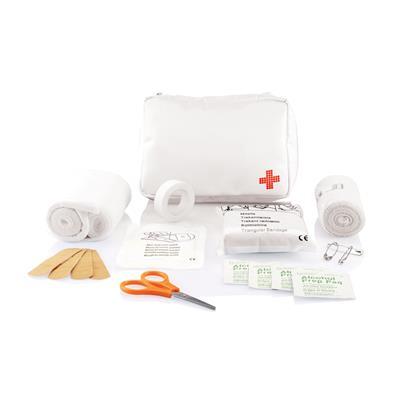 Verzendbare eerste hulp set wit