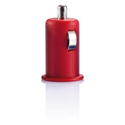 Mini auto USB lader rood