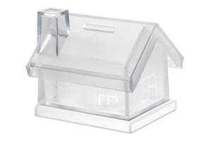 Pusculita transparenta sub forma de casa